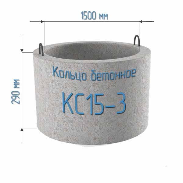 Бетонные кольца КС15-3
