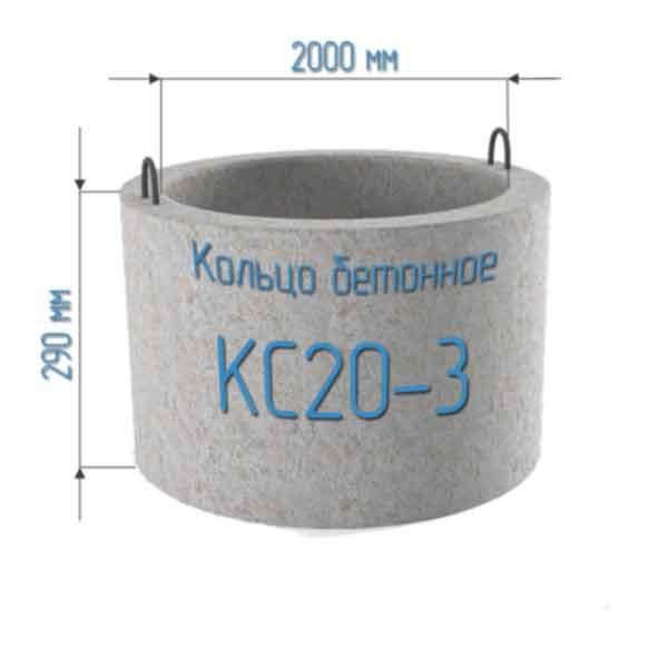 Бетонные кольца КС20-3