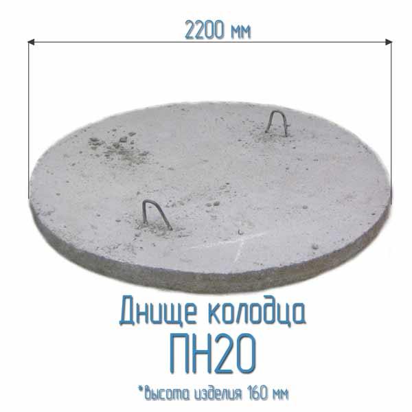 Днище колодца ПН20