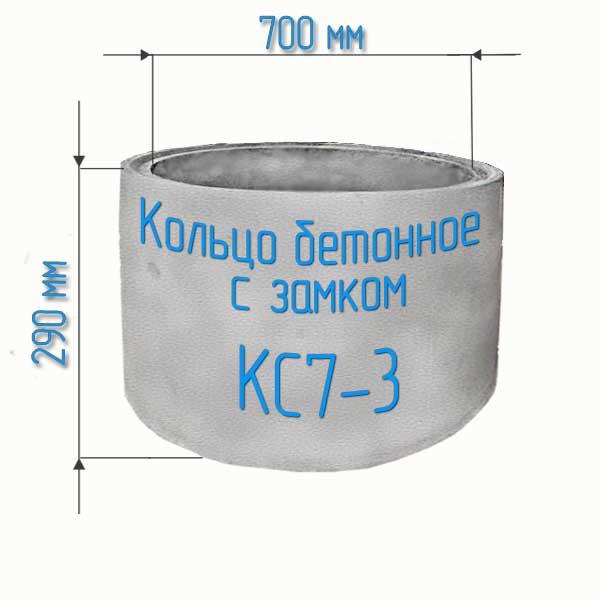 Кольца жби бетонные с замком КС7-3
